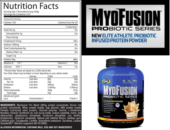 myofusion-probiotic Supplement Facts