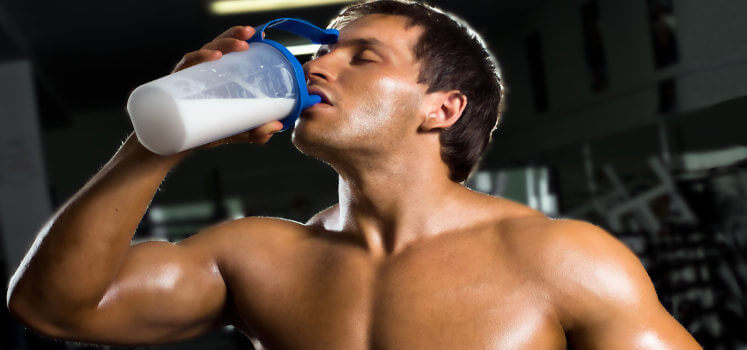 shakes without protein powder for muscle building